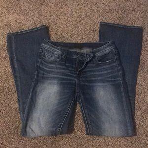 Women's Buckle Black Boot cut Jeans